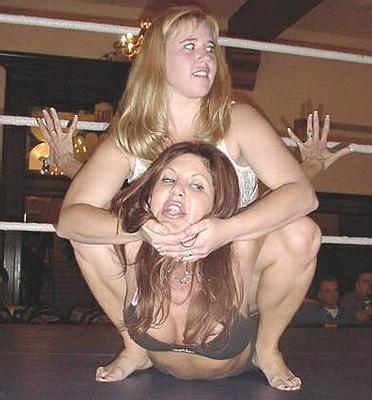 Female Wrestling Camel Clutch Hold